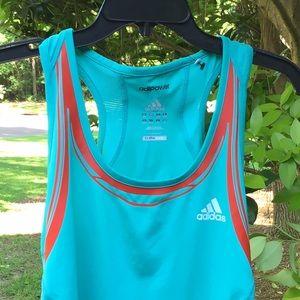 Adidas ClimaCool Training Teal Blue Tank, S, EUC